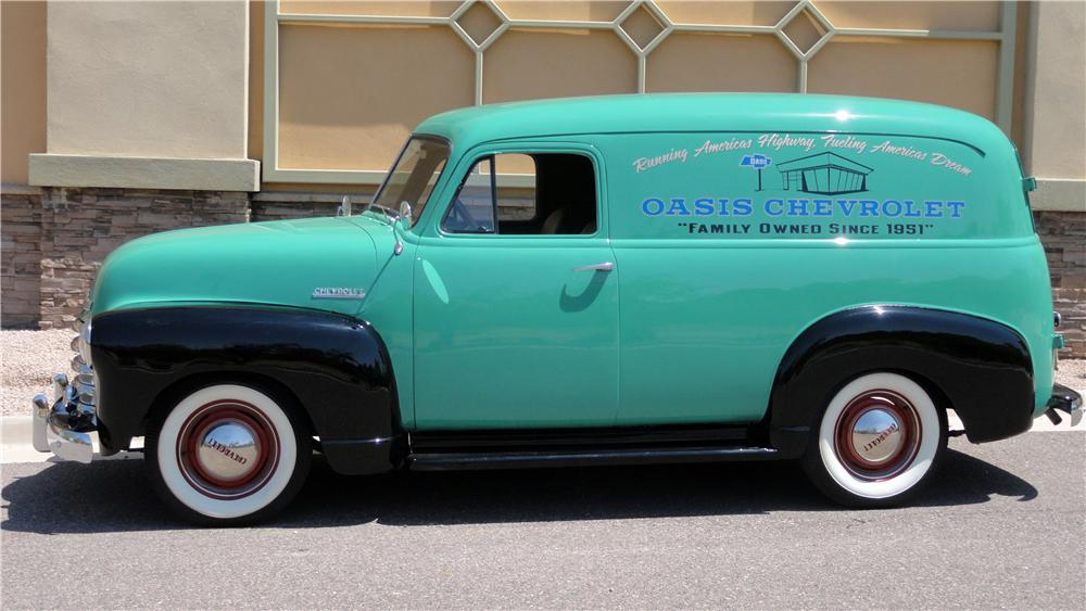 1951 CHEVROLET PANEL TRUCK  - Side Profile - 132828