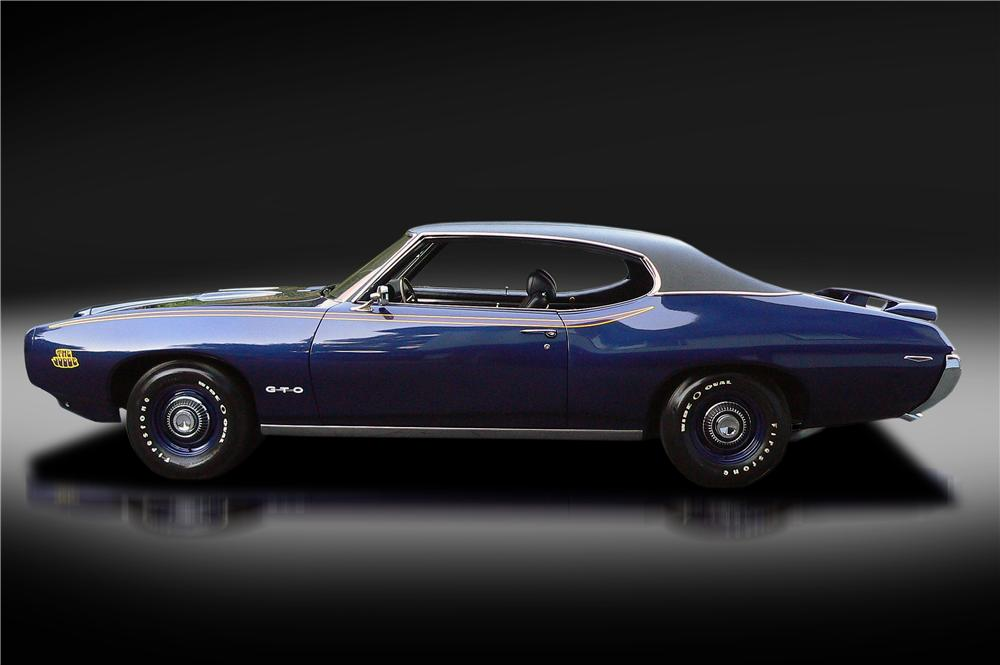 1969 PONTIAC GTO JUDGE 2 DOOR COUPE - Side Profile - 132834