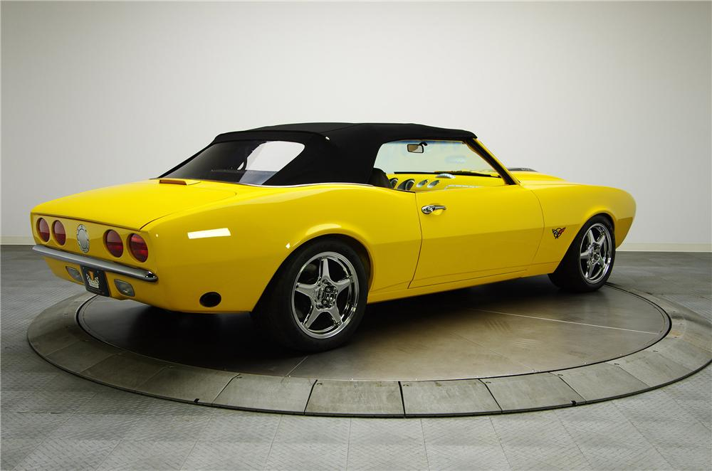 1968 CHEVROLET CAMARO CUSTOM 2 DOOR CONVERTIBLE - Rear 3/4 - 132878