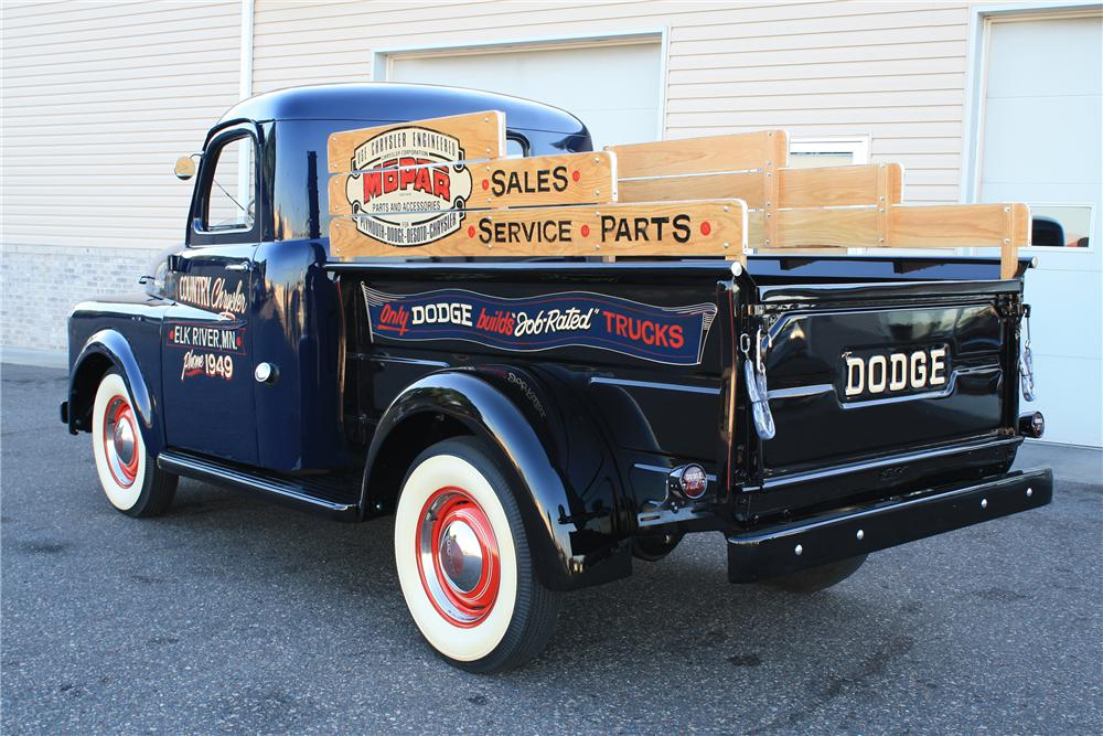 1949 DODGE PICKUP - Rear 3/4 - 132886