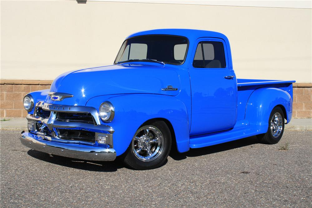 1955 CHEVROLET 3100 CUSTOM PICKUP - Front 3/4 - 132889