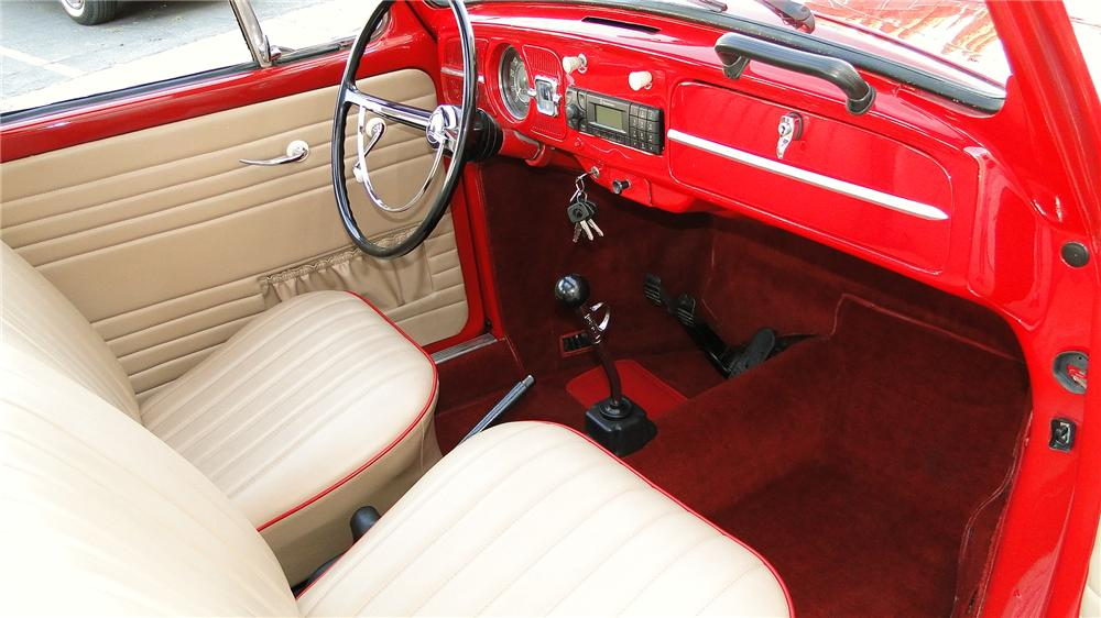 1966 VOLKSWAGEN TYPE I SUNROOF SEDAN - Interior - 132907