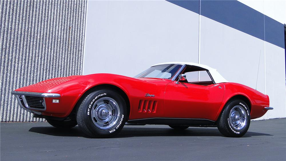 1968 CHEVROLET CORVETTE CONVERTIBLE - Side Profile - 132911