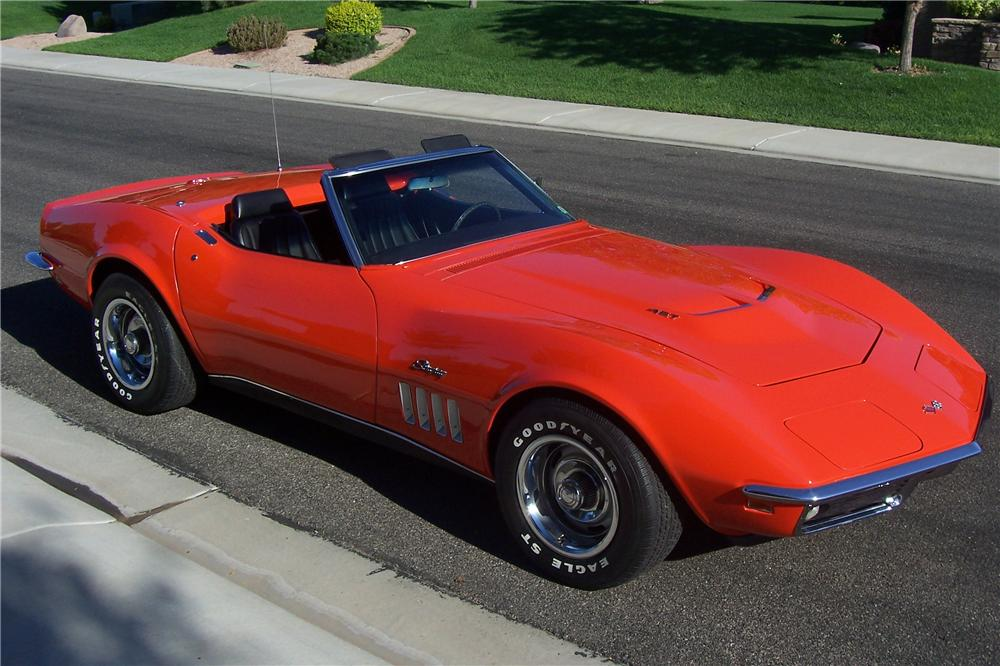 1969 CHEVROLET CORVETTE CONVERTIBLE - Side Profile - 132920