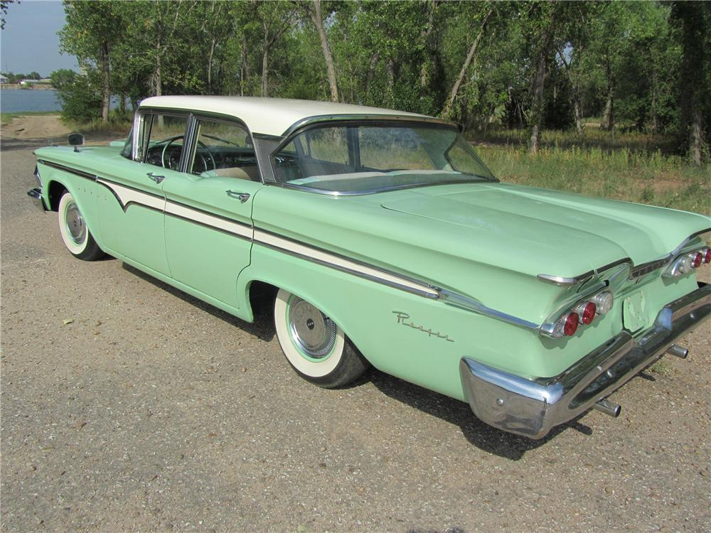 1959 EDSEL RANGER 4 DOOR SEDAN - Rear 3/4 - 132934