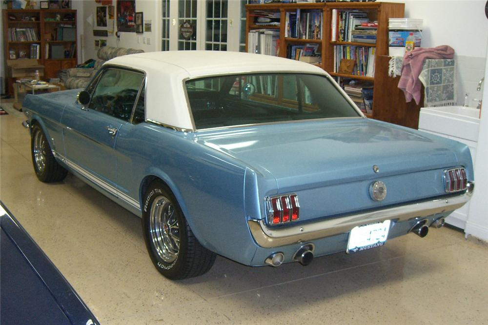 1966 FORD MUSTANG GT 2 DOOR COUPE - Rear 3/4 - 132943