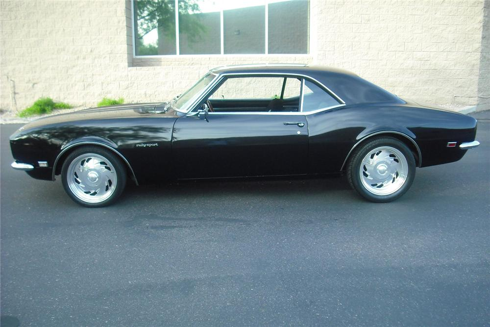 1968 CHEVROLET CAMARO CUSTOM 2 DOOR COUPE - Side Profile - 132951