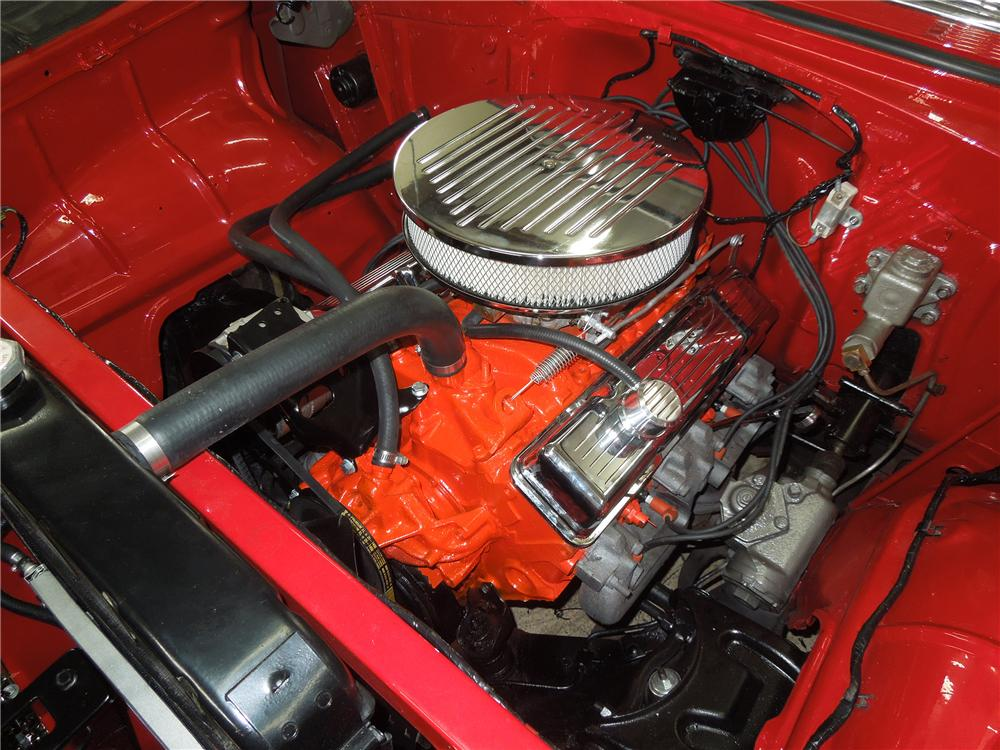 Engine Web on Front View Of A Chevy 350 Engine