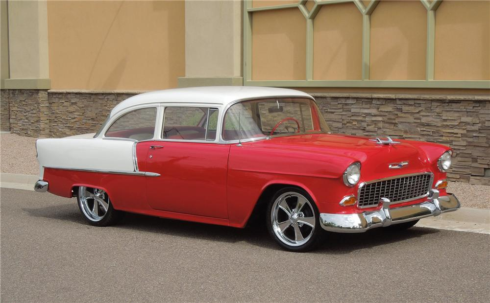 1955 CHEVROLET 210 CUSTOM 2 DOOR SEDAN - Front 3/4 - 132969