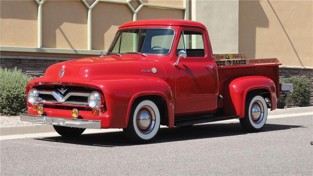 1955 FORD F-100 PICKUP - Front 3/4 - 132979