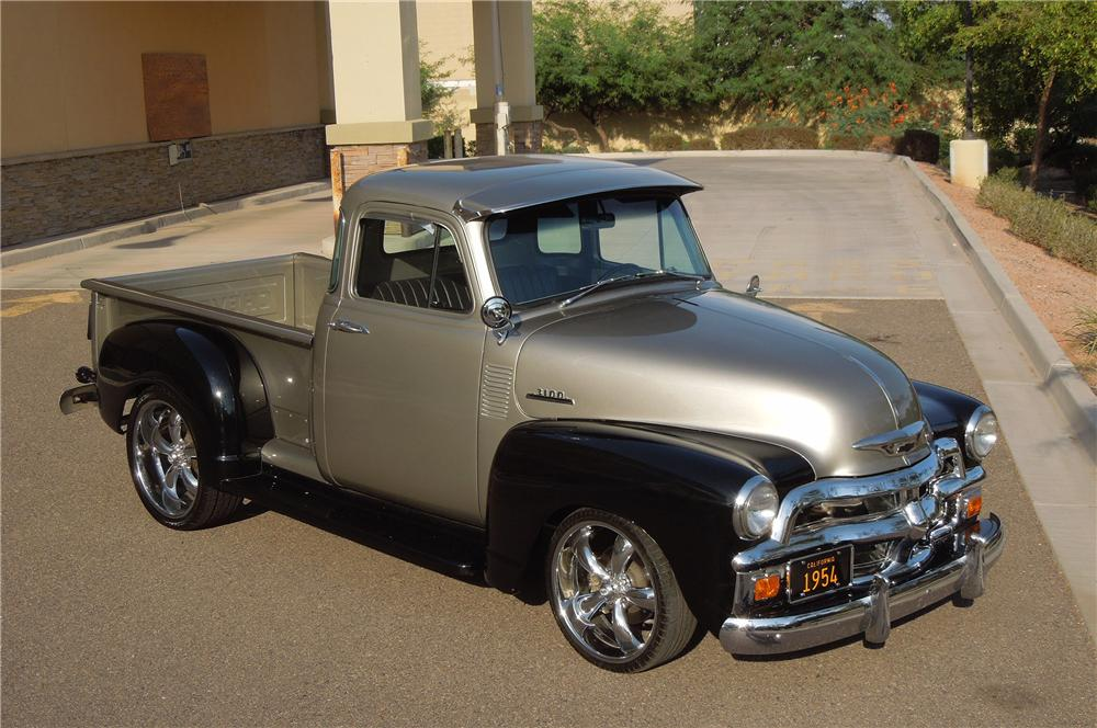 1954 CHEVROLET 3100 CUSTOM PICKUP - Front 3/4 - 132983