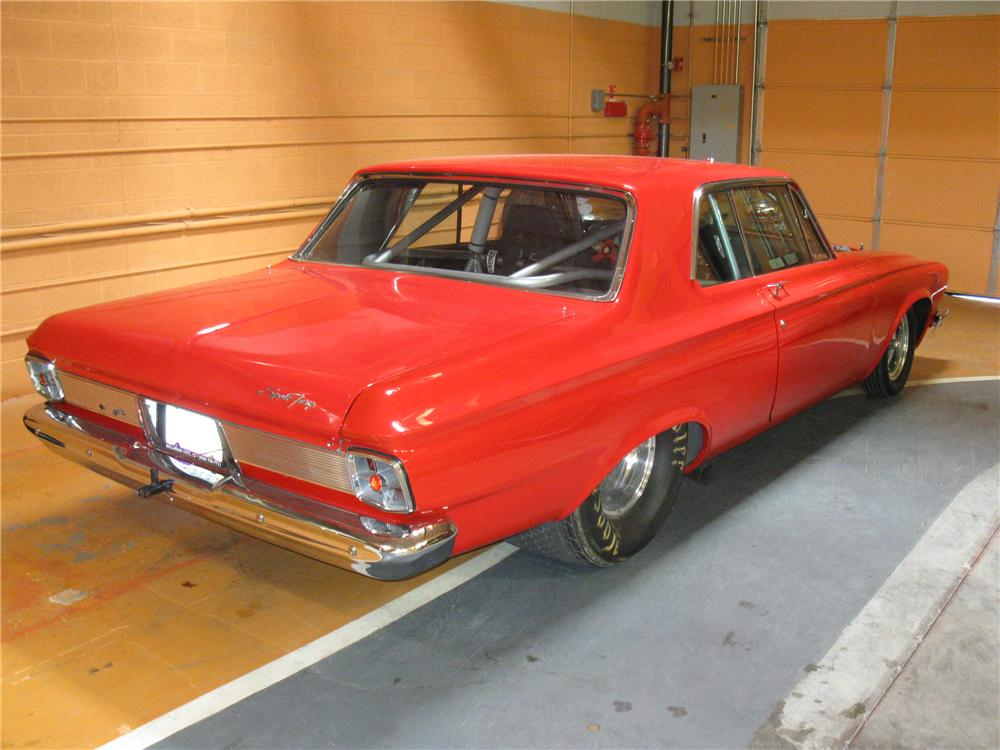 1963 PLYMOUTH FURY SPORT CUSTOM 2 DOOR HARDTOP - Rear 3/4 - 133006