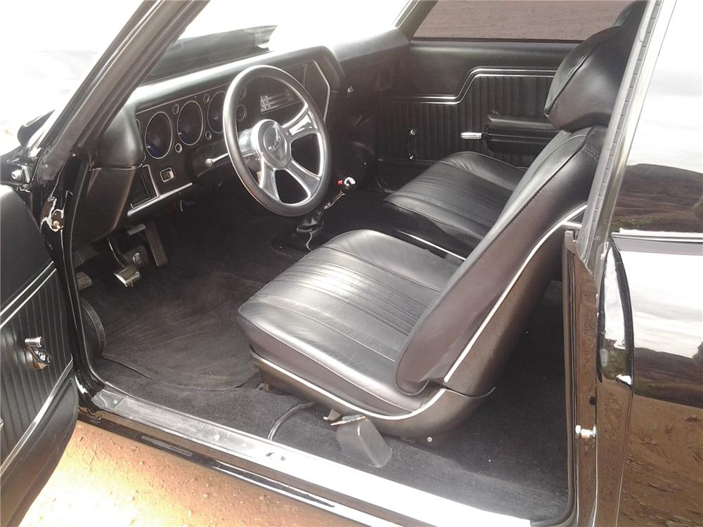 1970 CHEVROLET CHEVELLE CUSTOM 2 DOOR COUPE - Interior - 133044
