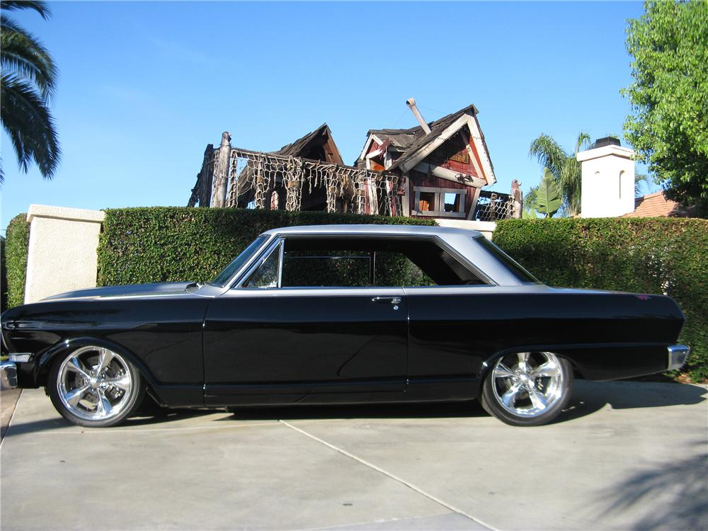1963 CHEVROLET NOVA CUSTOM 2 DOOR HARDTOP - Side Profile - 133046