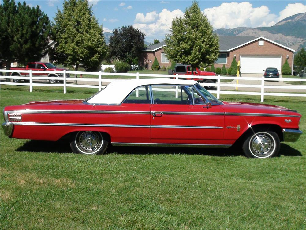 1963 FORD GALAXIE 500 XL CONVERTIBLE - Side Profile - 133048