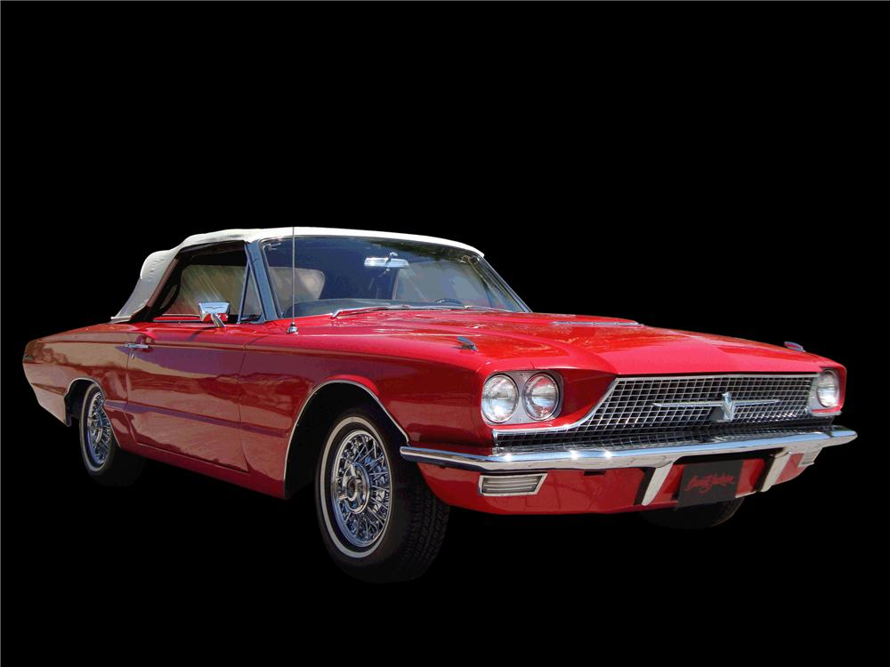 1966 FORD THUNDERBIRD CONVERTIBLE - Front 3/4 - 133049