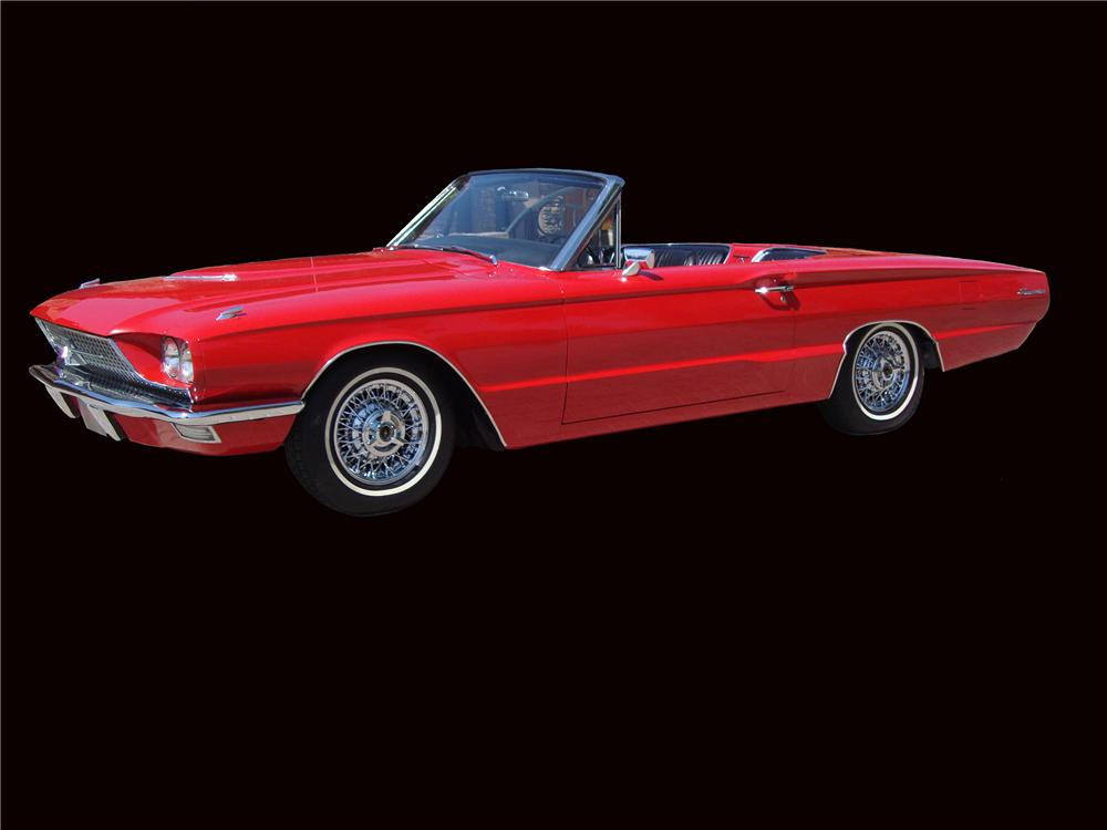 1966 FORD THUNDERBIRD CONVERTIBLE - Side Profile - 133049