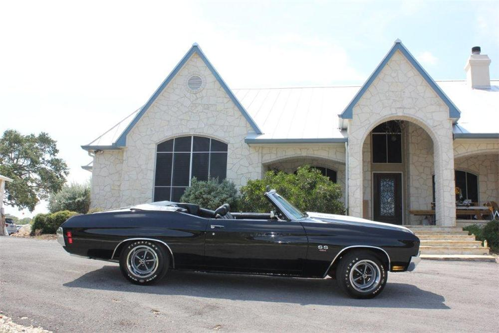 1970 CHEVROLET CHEVELLE SS CONVERTIBLE - Side Profile - 133061