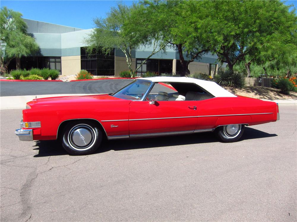 1974 CADILLAC ELDORADO CONVERTIBLE - Side Profile - 133129