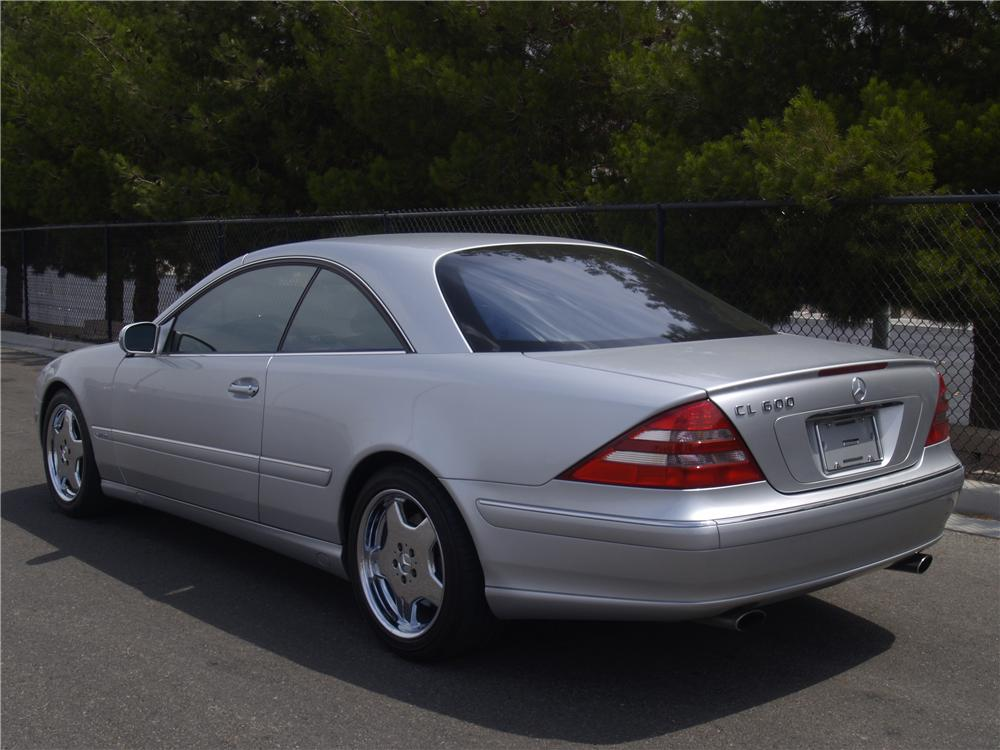 2001 MERCEDES-BENZ CL600 2 DOOR COUPE - Rear 3/4 - 133140