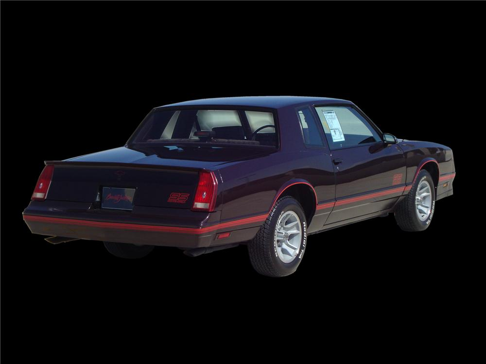 1988 CHEVROLET MONTE CARLO SS 2 DOOR HARDTOP - Rear 3/4 - 133142
