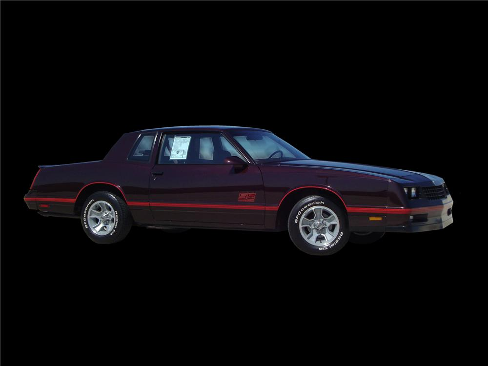 1988 CHEVROLET MONTE CARLO SS 2 DOOR HARDTOP - Side Profile - 133142