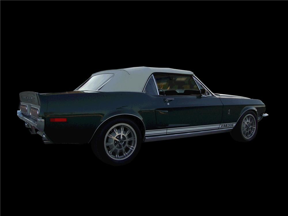 1968 FORD MUSTANG CUSTOM CONVERTIBLE - Rear 3/4 - 133146