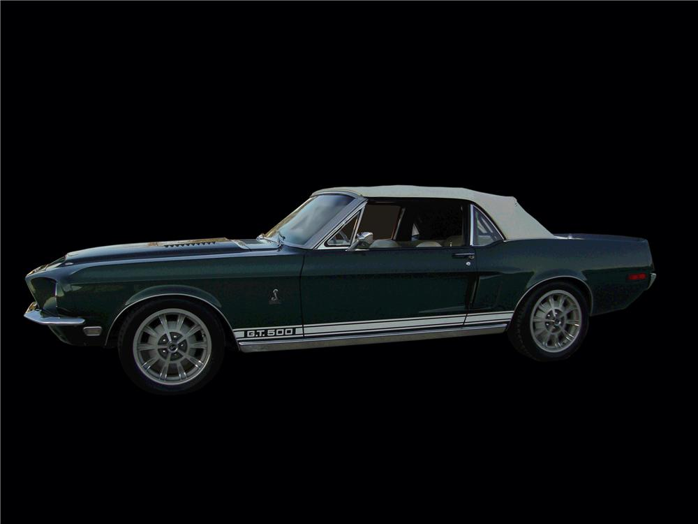 1968 FORD MUSTANG CUSTOM CONVERTIBLE - Side Profile - 133146
