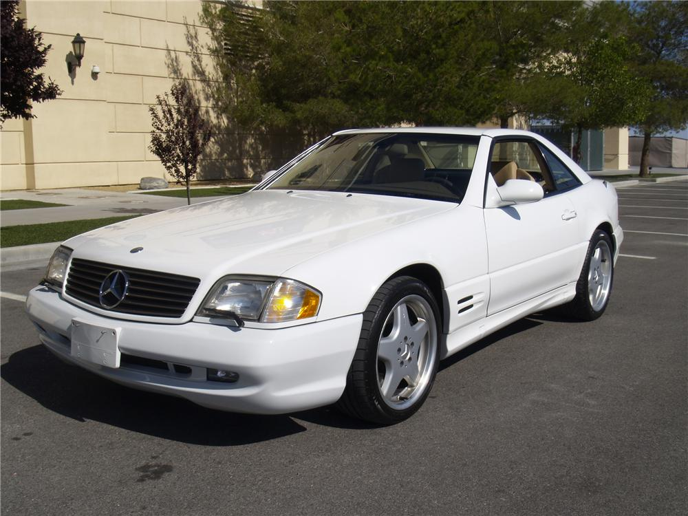 2001 MERCEDES-BENZ SL500 CONVERTIBLE - Front 3/4 - 133147