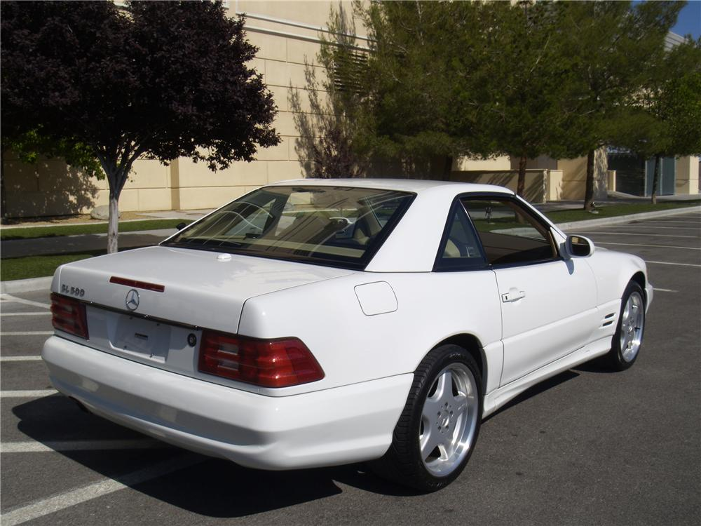 2001 MERCEDES-BENZ SL500 CONVERTIBLE - Rear 3/4 - 133147