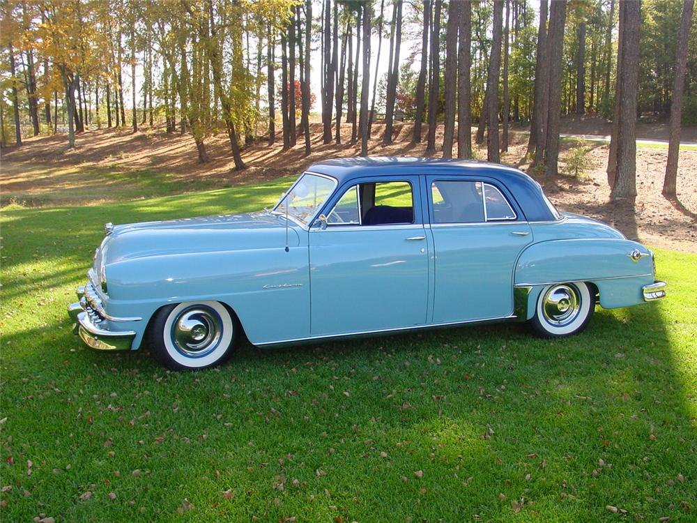 1952 DE SOTO CUSTOM 4 DOOR SEDAN - Side Profile - 133150