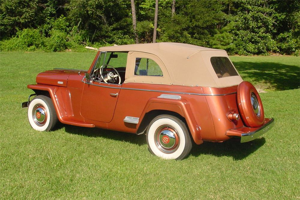 1949 WILLYS JEEPSTER CONVERTIBLE - Rear 3/4 - 133151