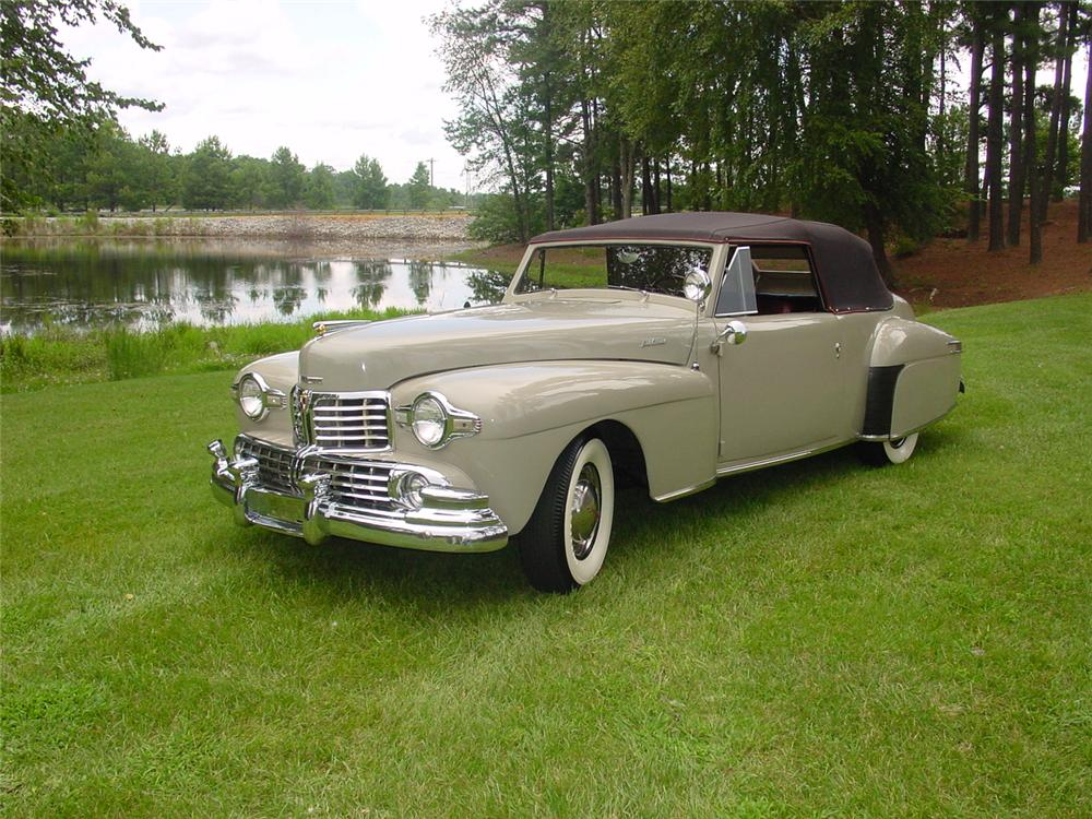 1948 LINCOLN CONTINENTAL CONVERTIBLE - Front 3/4 - 133156