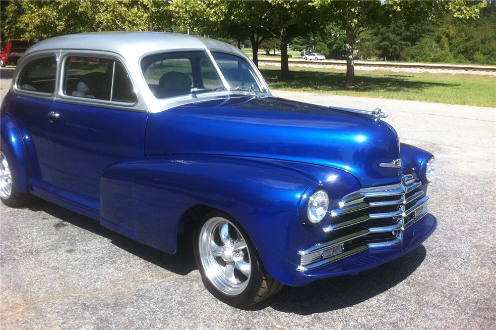 1948 CHEVROLET FLEETMASTER CUSTOM 2 DOOR SEDAN - Front 3/4 - 133165