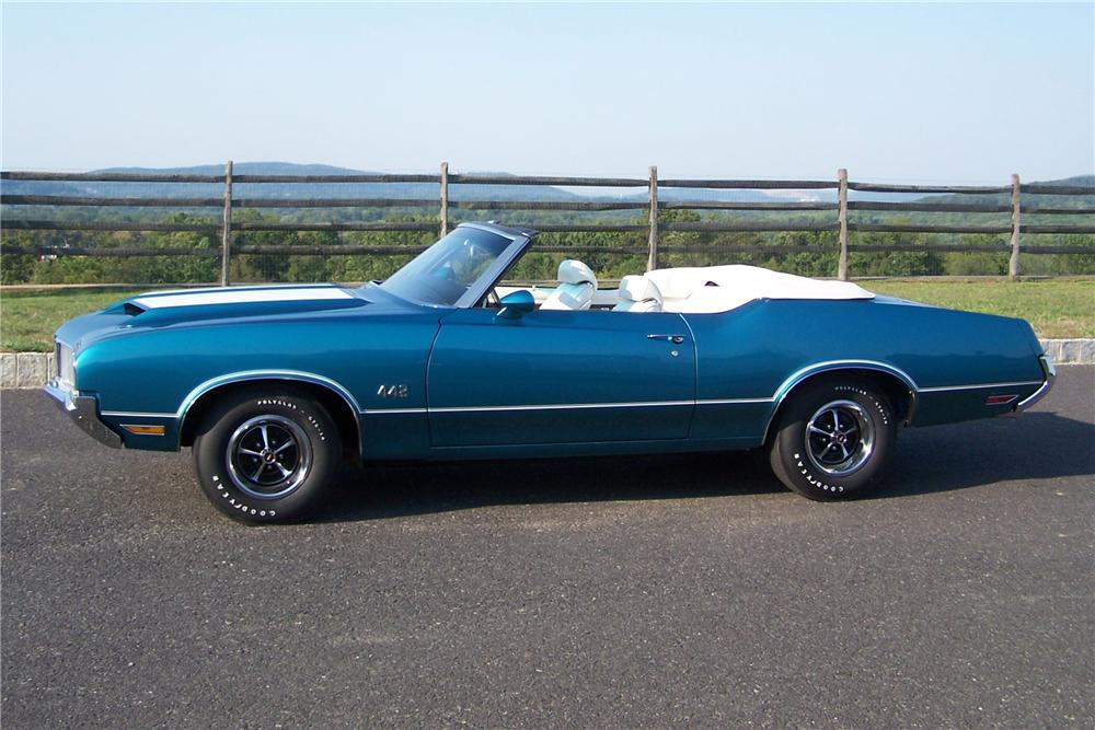 1970 OLDSMOBILE 442 CONVERTIBLE - Side Profile - 133185