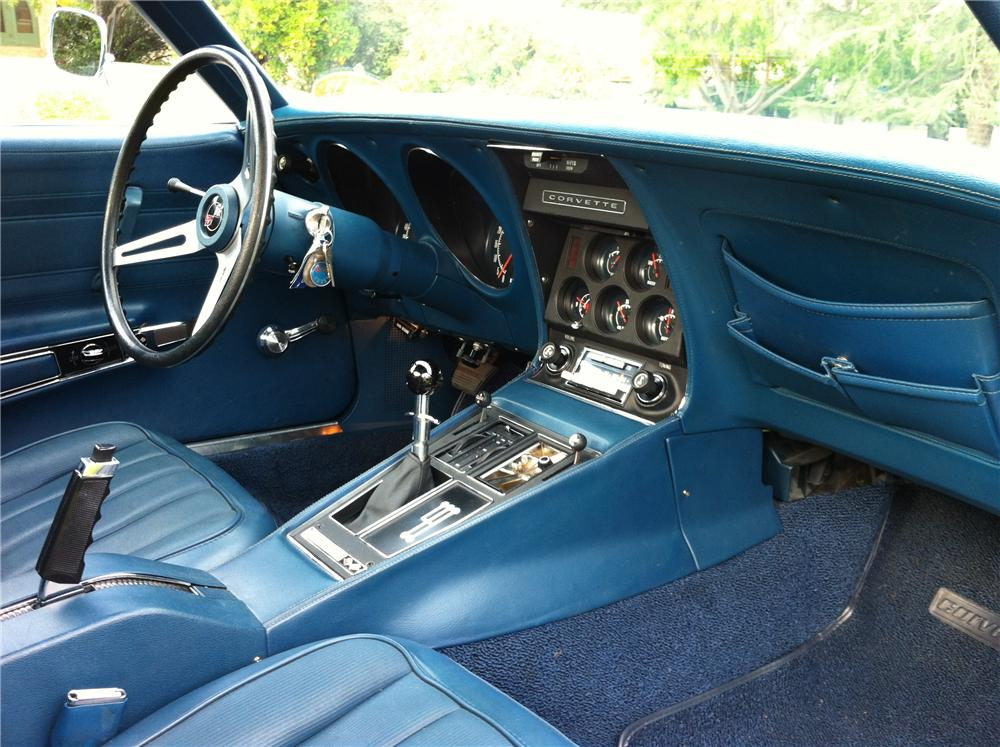 1972 CHEVROLET CORVETTE 2 DOOR COUPE - Interior - 133207