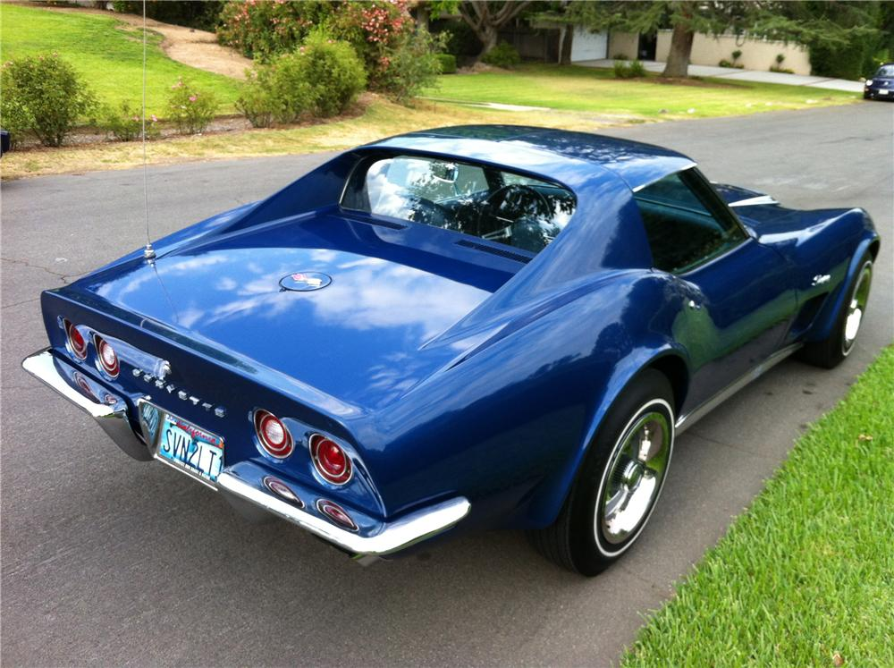 1972 CHEVROLET CORVETTE 2 DOOR COUPE - Rear 3/4 - 133207