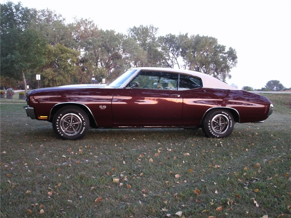 1970 CHEVROLET CHEVELLE LS6 SS 2 DOOR COUPE - Side Profile - 133208