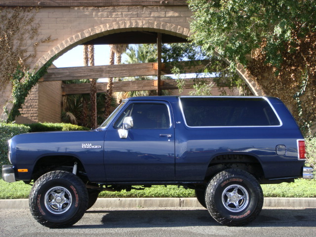 1991 DODGE RAMCHARGER 4X4 SUV - Side Profile - 133209