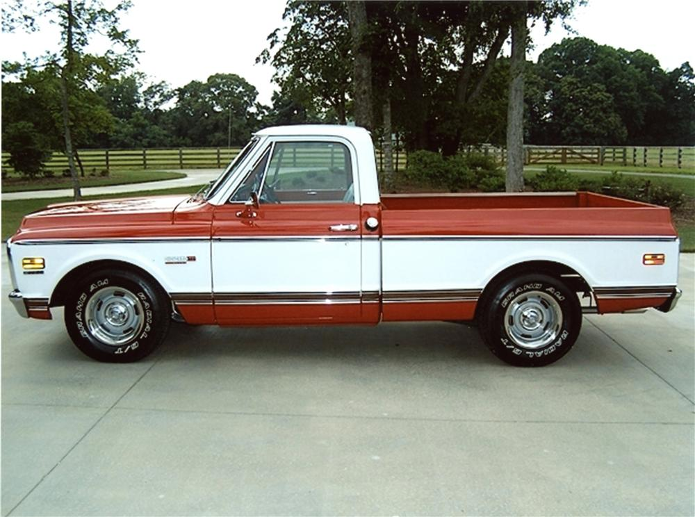 1972 CHEVROLET CHEYENNE TRUCK - Side Profile - 133228