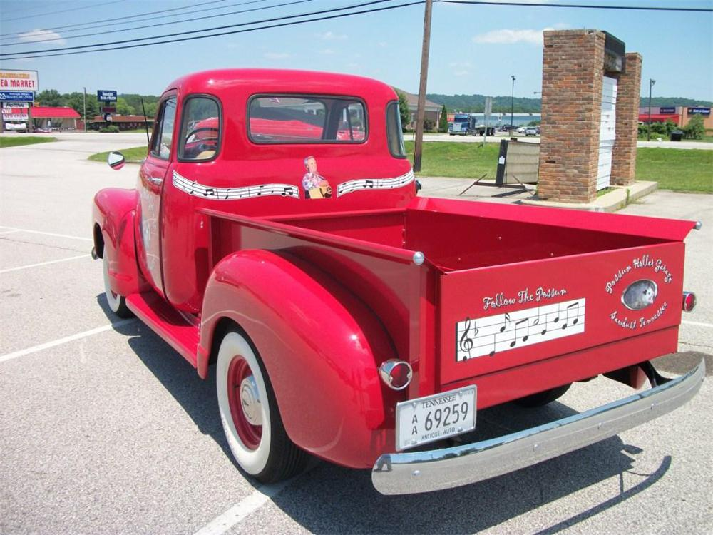 1954 CHEVROLET 3100 CUSTOM 5 WINDOW PICKUP - Rear 3/4 - 133481