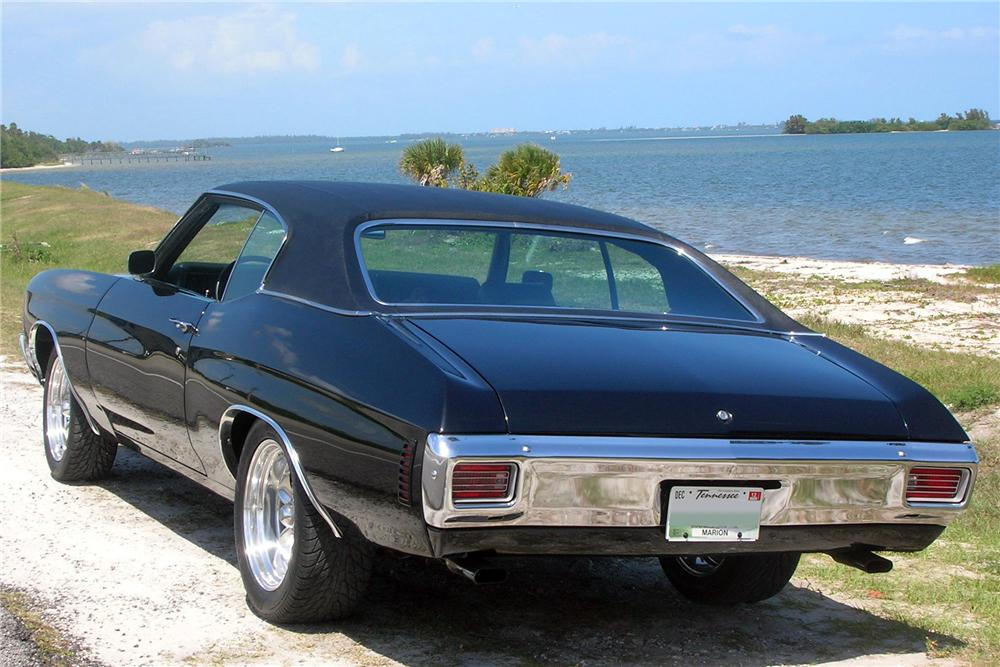 1970 CHEVROLET CHEVELLE MALIBU 2 DOOR COUPE - Rear 3/4 - 133488