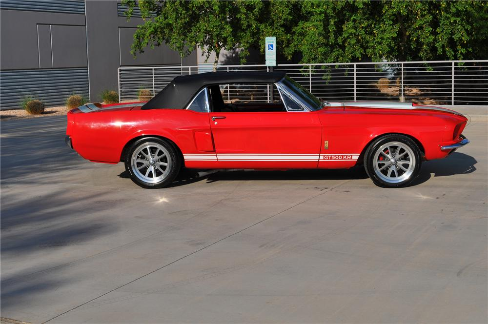 1967 FORD MUSTANG CUSTOM CONVERTIBLE - Side Profile - 133492