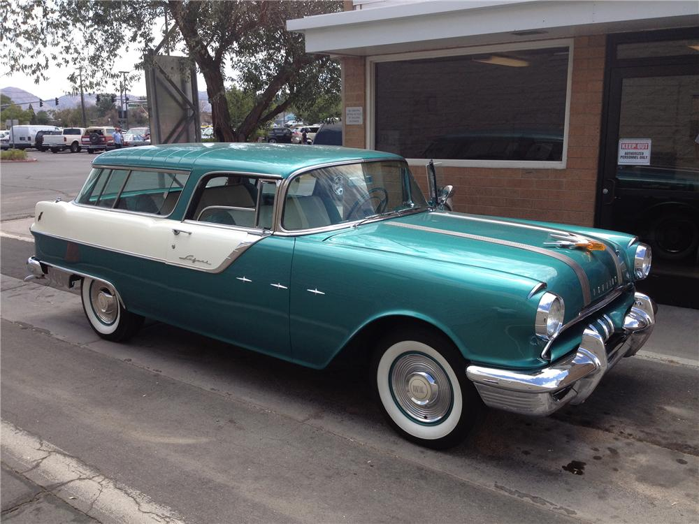 1955 PONTIAC STAR CHIEF STATION WAGON - Side Profile - 133505
