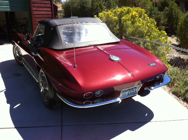 1966 CHEVROLET CORVETTE CONVERTIBLE - Rear 3/4 - 133516