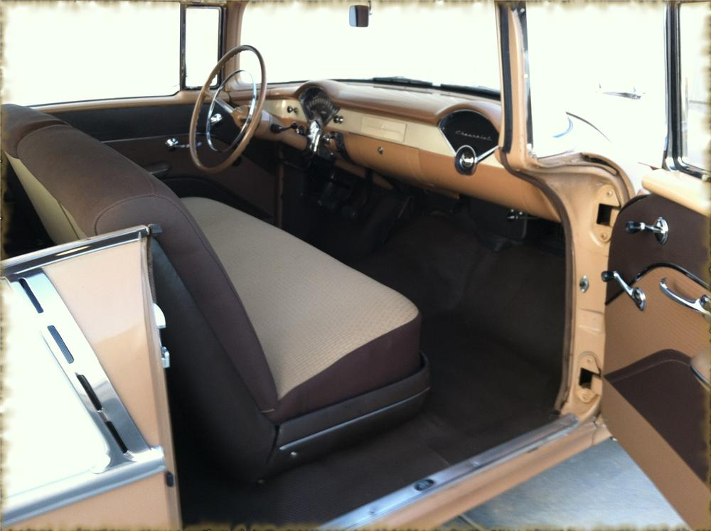 1955 CHEVROLET 210 2 DOOR HARDTOP - Interior - 133525