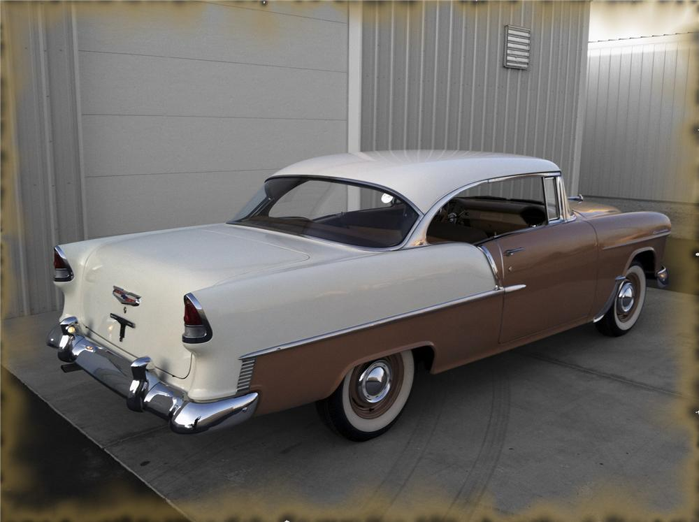 1955 CHEVROLET 210 2 DOOR HARDTOP - Rear 3/4 - 133525