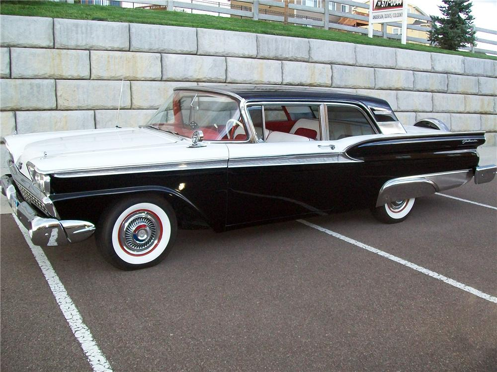 1959 FORD GALAXIE 2 DOOR HARDTOP - Side Profile - 133538