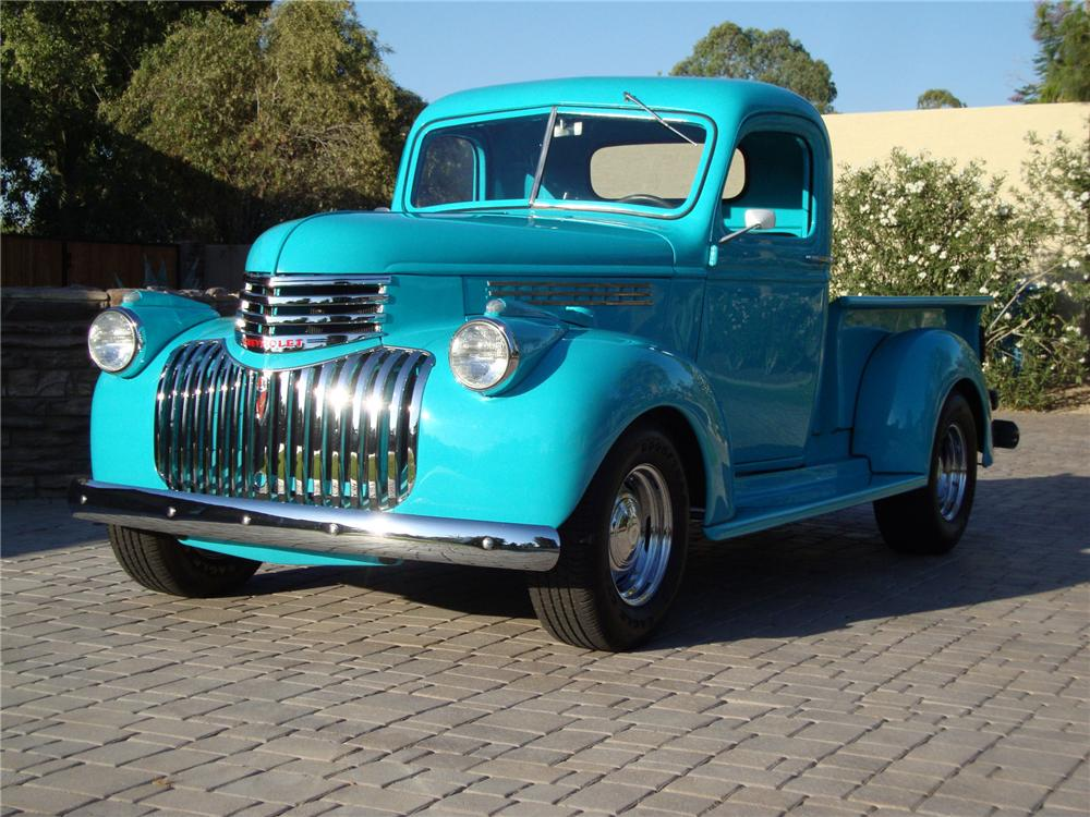 1946 CHEVROLET CUSTOM PICKUP - Front 3/4 - 133539