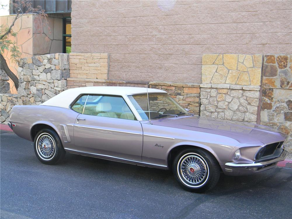 1969 FORD MUSTANG 2 DOOR HARDTOP - Side Profile - 133546